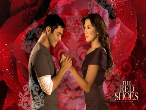 Marvin Agustin and Nikki Gil in The Red Shoes