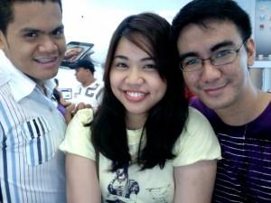 Peps, Myla and Ederic at iStudio - Bonifacio High Street