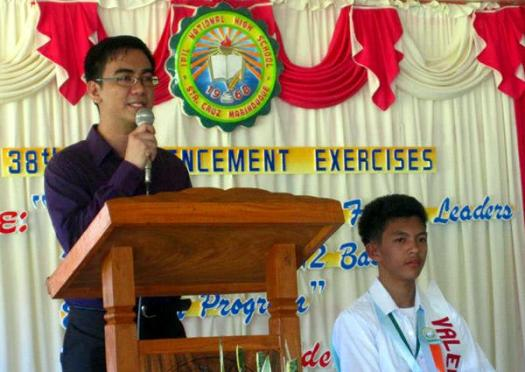 Delivering my commencement speech at Ipil National High School on March 18, 2013.
