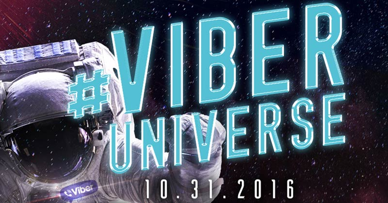 Express freely at the #ViberUniverse Halloween Ball