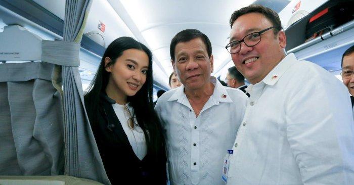 Mocha Uson, Rodrigo Duterte, and Harry Roque (PCOO)