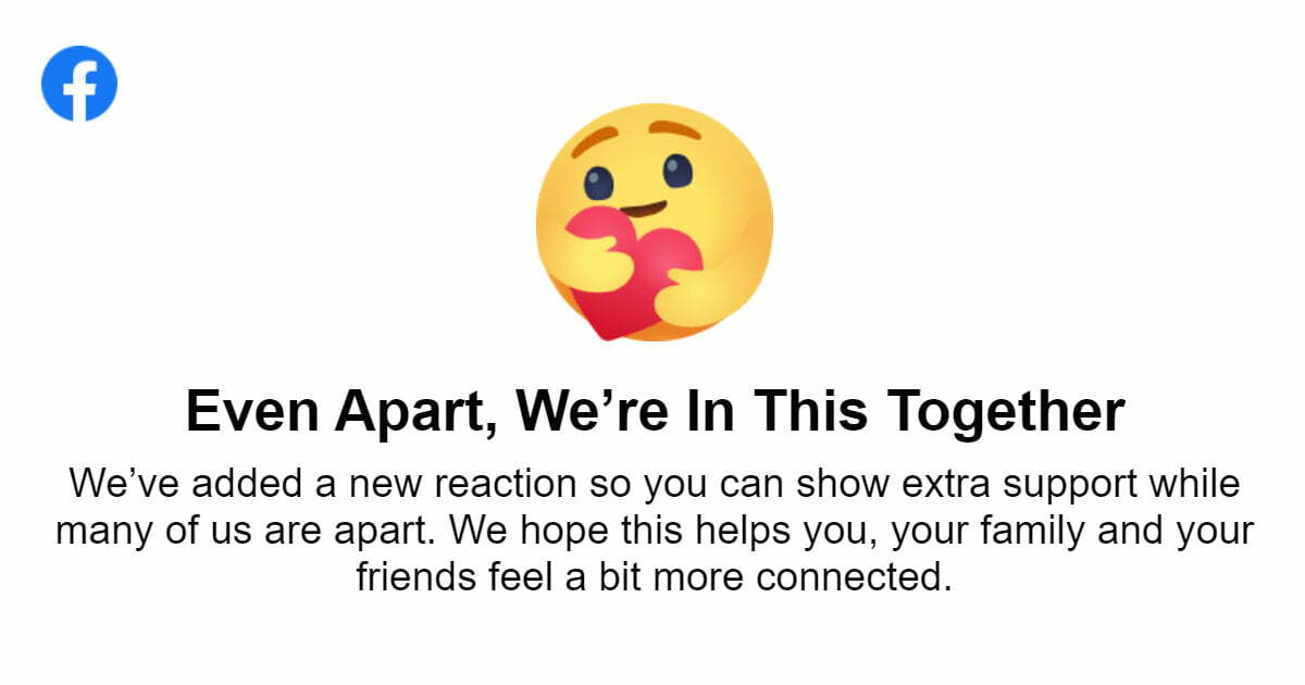 Facebook care emoji reaction