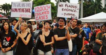 Movement Against Tyranny protest at Luneta