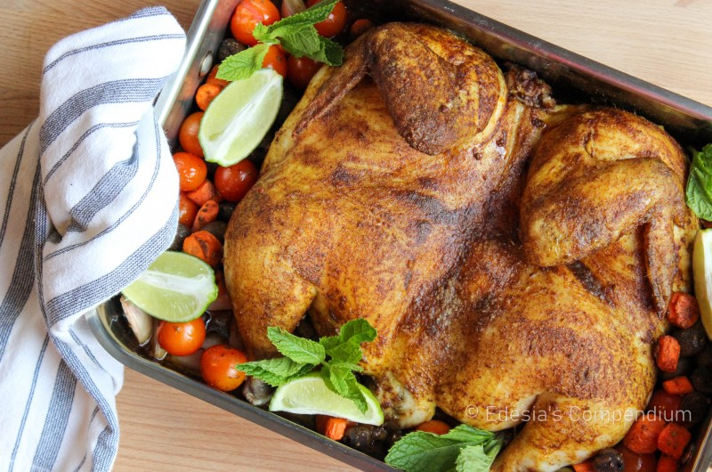 Moroccan Roast Chicken on Vegetables