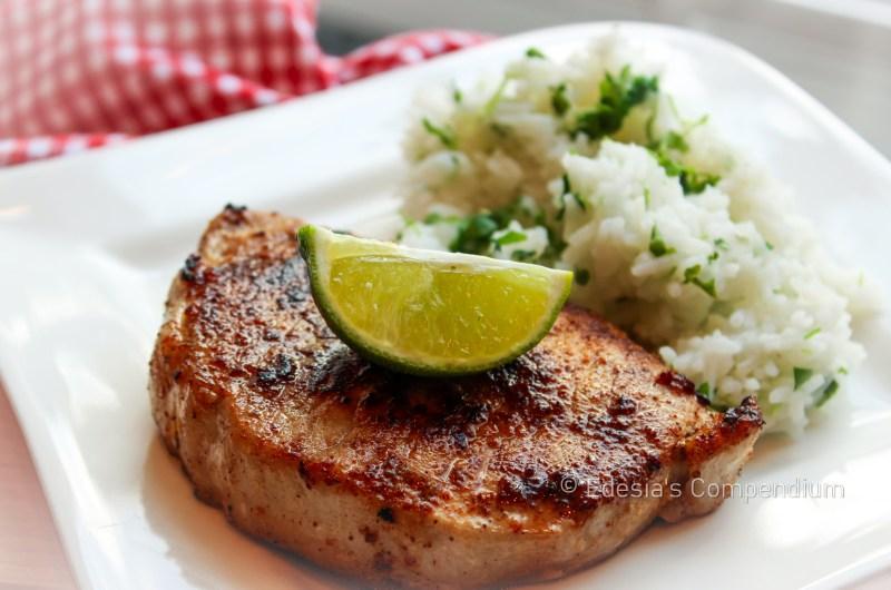 Quick Garlic-Lime Marinated Pork Chops