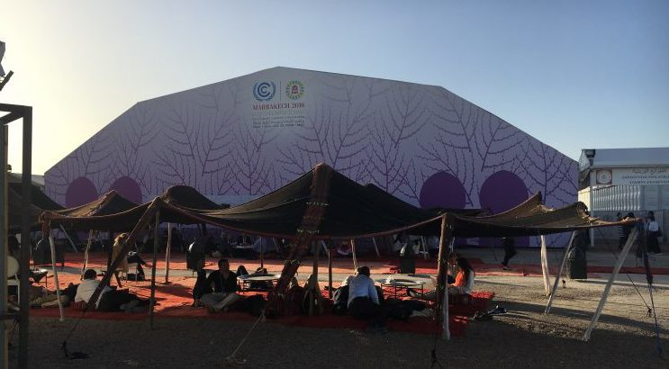 A scene from COP22, held in Marrakech, Morocco. Photo: Franco Montalto