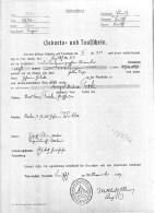 1809 Birth certificate Josef Terk