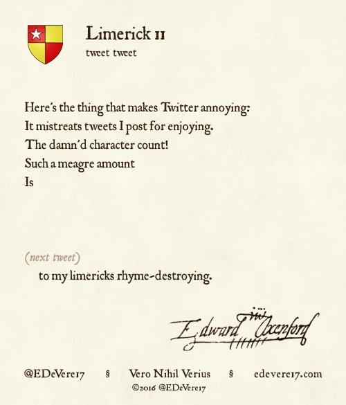 Limerick 11 image - limerick Twitter limit characters