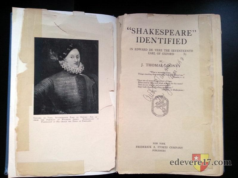 Shakespeare Identified titlepg - books Oxfordian Looney Ward