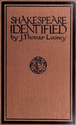 Shakespeare Identified 1920 British cover - Looney centennial limerick Oxford