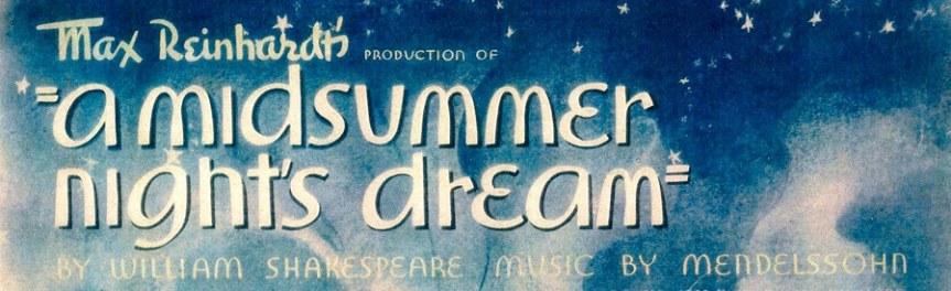 Banner - MND lobby card - Midsummer Night's Dream 1935