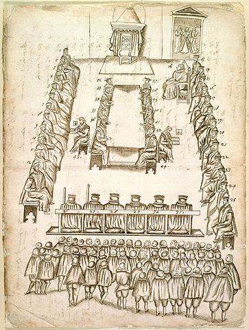 Beale trial drawing display image - Mary Queen Scots trial