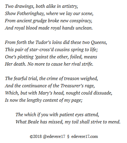 My prologue sonnet image - Mary Queen Scots trial