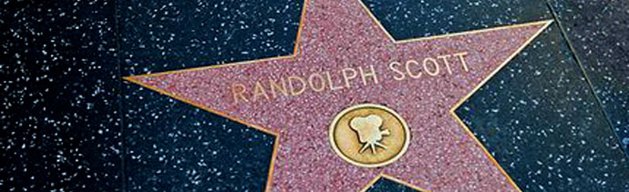 Banner - Hollywood walk of fame star - limerick Randolph Scott Hollywood