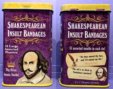 Willy insult bandages tin - Stratford snarky insult bandages