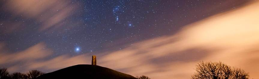 Banner - Sirius rising over Glastonbury Tor - limerick Sirius astronomy climate
