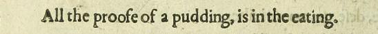 Camden proverbe 1623 - Vere Pudding recipe history