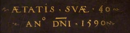 Sample aetatis suae inscription - StAlbans portrait subject error