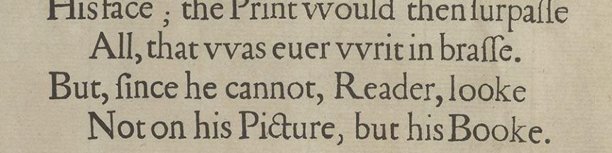 Banner - Jonson ending of FF preface To the Reader
