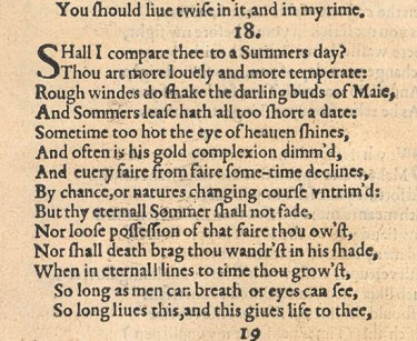Sonnet 18 from 1609 First Edition - Poetry writing formal verse