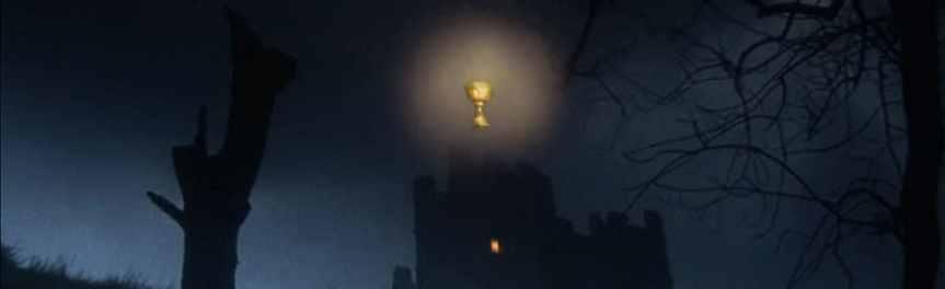 Banner Holy Grail above Castle Anthrax - Python Grail Henry IV subtitles