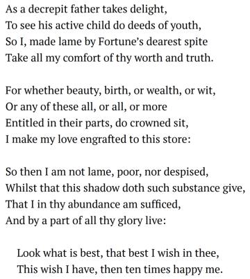 Sonnet 37 modernised text