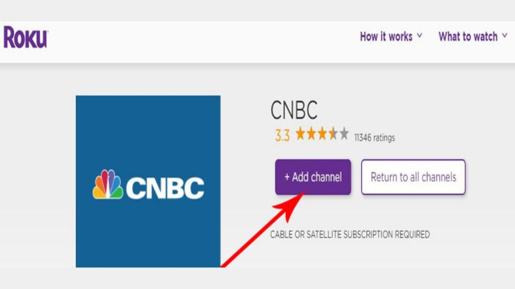Activate CNBC on Roku tv