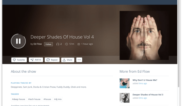 New Session up on Mixcloud – Deeper Shades of House Vol4