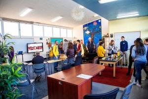 classroom of living wisdom school high school students