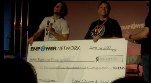 Empower Network helped me get this big giant check without empoweredpostcards.com
