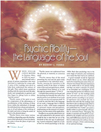 Psychic Ability – the Language of the Soul