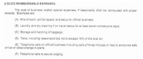 Reimburseable Expenses
