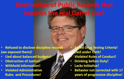 Darrel cox Records Destruction
