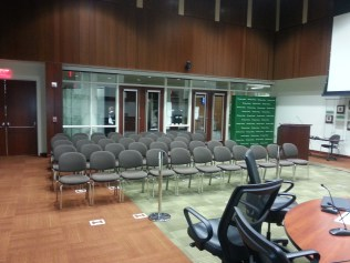 """""""adequate"""" seating in board room"""