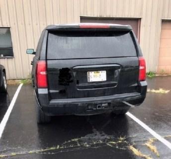 Whiteside Sheriff Dept vehicle at radio station-z