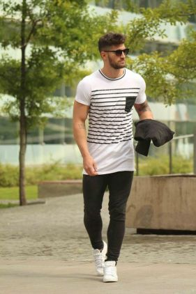 tee-shirt long homme musclé
