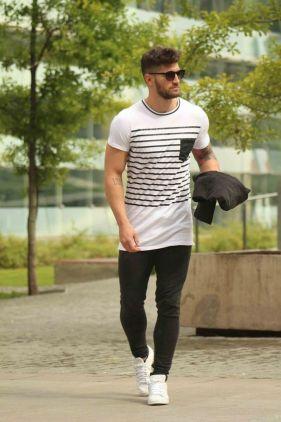 tee-shirt long homme musclé