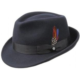 chapeau fedora Stetson, avec plume et bandeau