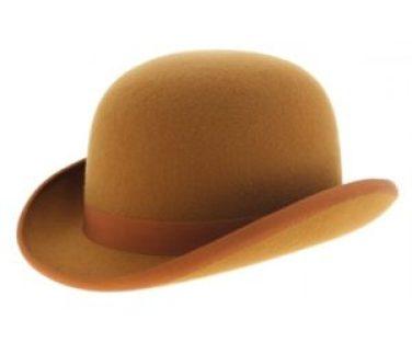 chapeau melon ou bowler orange pour homme
