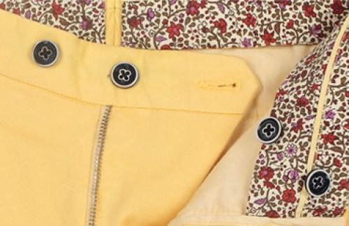 pantalon chino jaune pastel