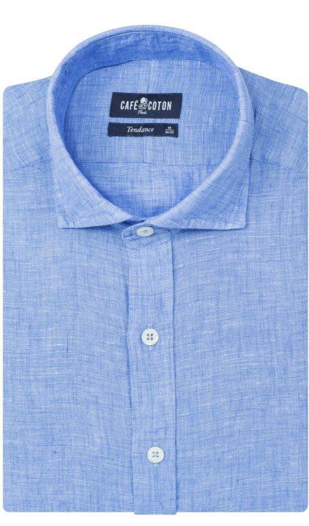 choisir sa chemise selon son budget chemise en lin bleu ciel