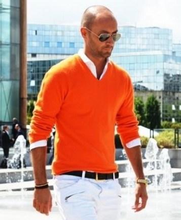 les couleurs tendances de l'été 2017 avec le pull orange tangerine