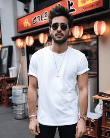 quels sont les essentiels du vestiaire masculin : t-shirt blanc col rond