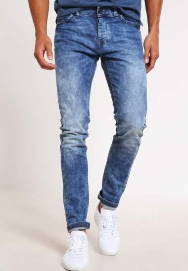 Jean bleached bleu homme