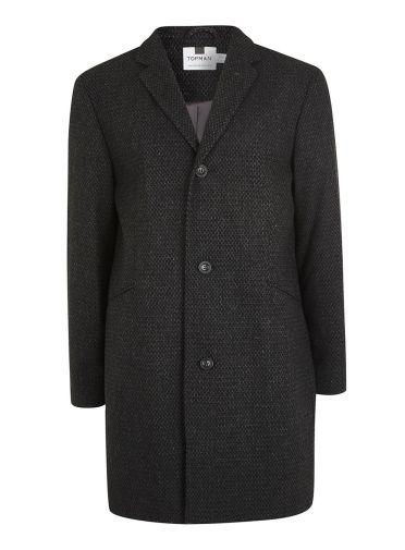 tenue homme manteau long noir