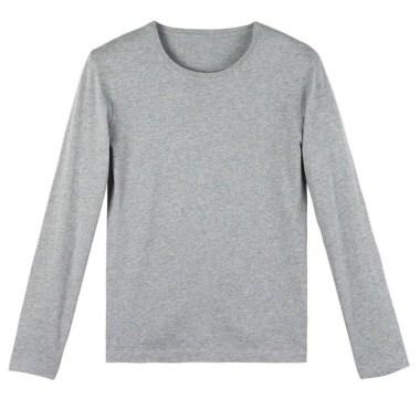tenue homme idée de tee-shirt gris manche longue