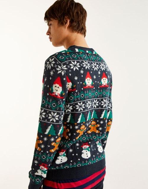 Pull de Noël pour homme avec motifs sapin