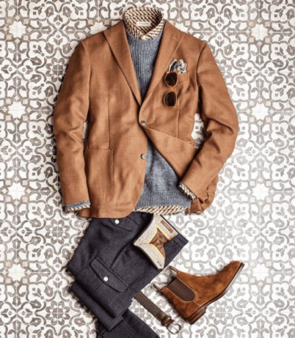 blazer marron pour homme