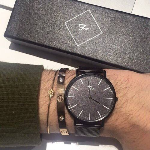 montre French Custom pour homme bracelet en métal