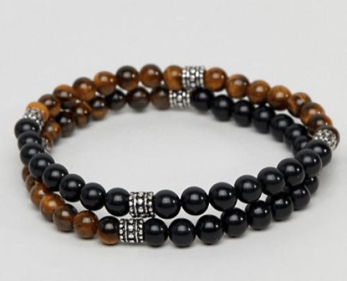 look pour homme bracelets perles